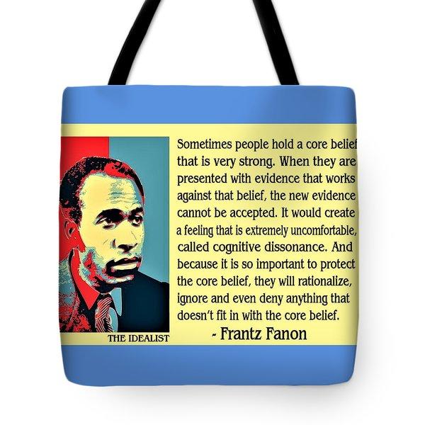 Cognitive Dissonance Frantz Fanon Tote Bag
