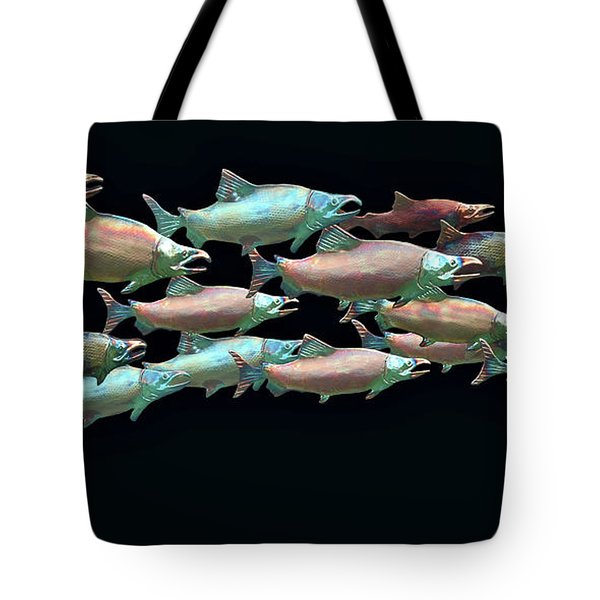 Coho Migration Tote Bag by Jeff Burgess