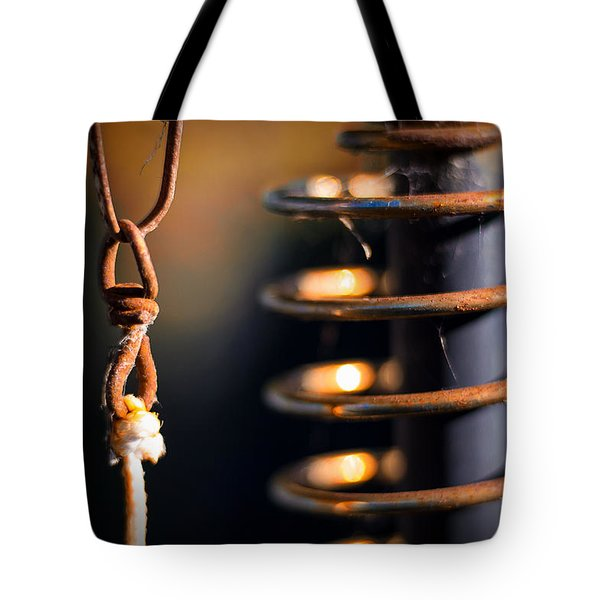 Tote Bag featuring the photograph Coil by Tim Nichols
