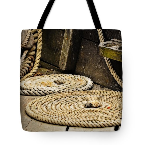 Coiled Rope From Philadelphia II Gunboat Tote Bag