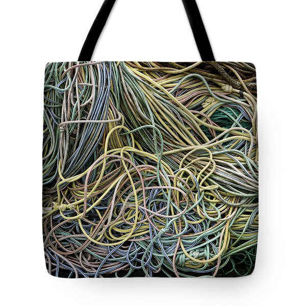 Coils Of Rope Tote Bag by Carol Leigh