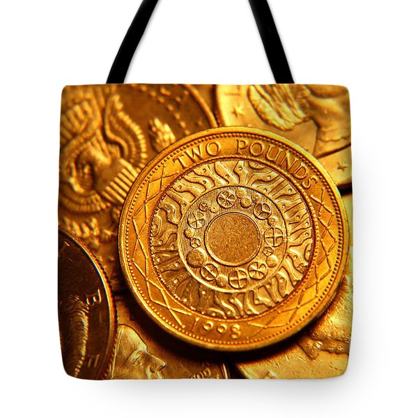 Coins In Macro Tote Bag