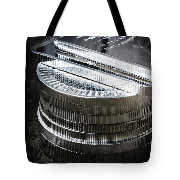 Coins Of Silver Stacking Tote Bag