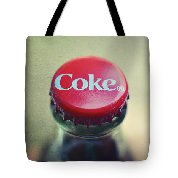 Coke Bottle Cap Square Tote Bag by Terry DeLuco