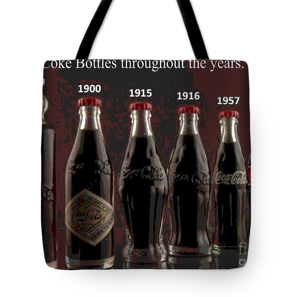 Coke Through Time Tote Bag by George Pedro