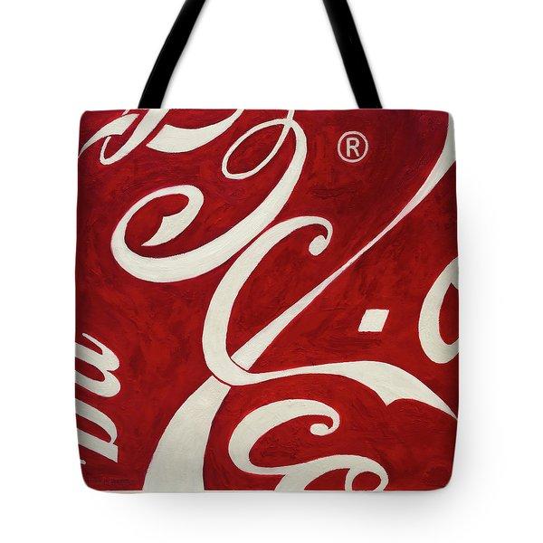 Cola - Coca Tote Bag by Antonio Ortiz
