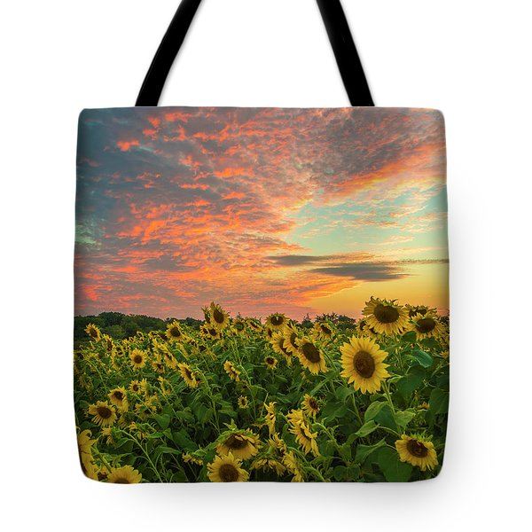 Colby Farm Sunflowers Tote Bag