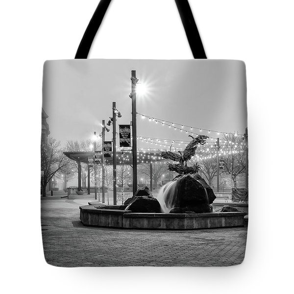 Tote Bag featuring the photograph Cold And Foggy Morning by Monte Stevens