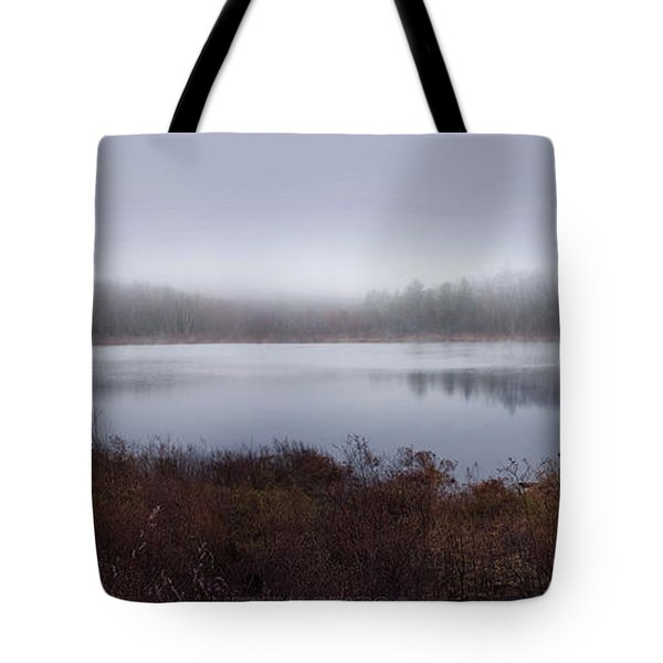 Cold And Misty Morning... Tote Bag