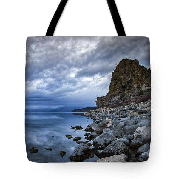 Cold Blue Cave Rock Tote Bag