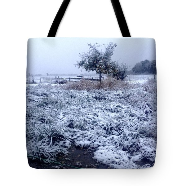 Cold Blue Tote Bag