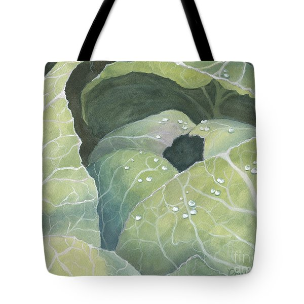 Tote Bag featuring the painting Cold Crop by Phyllis Howard