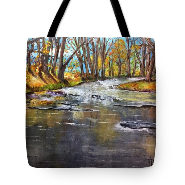 Cold Day At The Creek Tote Bag