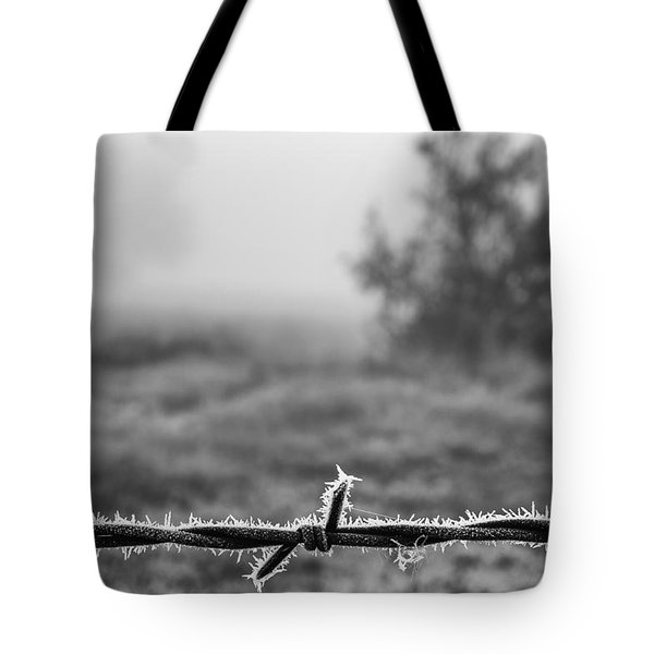 Tote Bag featuring the photograph Cold Frosty Morning by Monte Stevens
