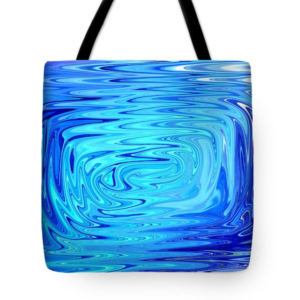 Tote Bag featuring the digital art Cold 2 by Mary Bedy