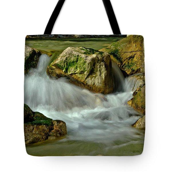 Cold Milky Creek Tote Bag