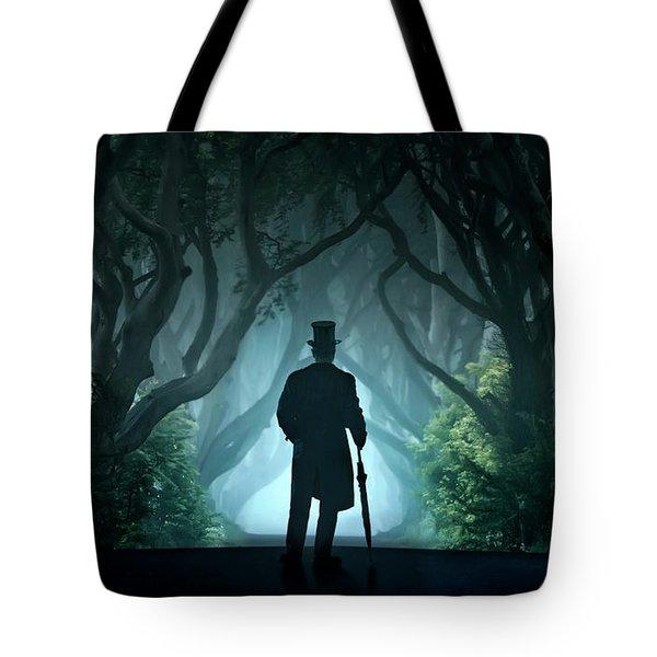 Cold Morning In Dark Hedges Tote Bag