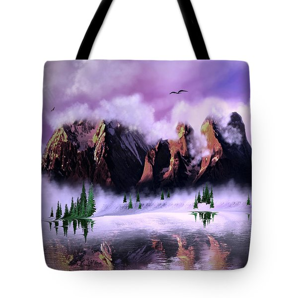 Cold Mountain Morning Tote Bag