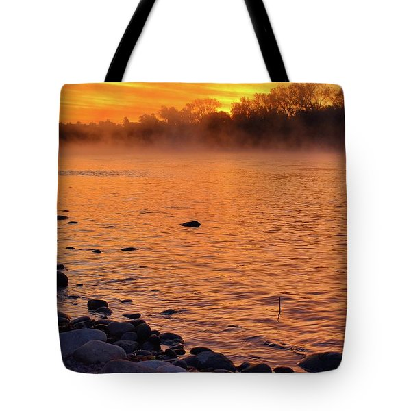 Cold November Morning Tote Bag