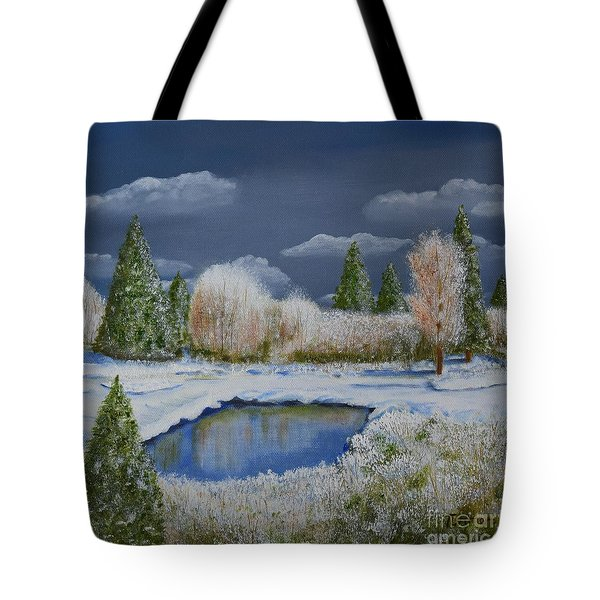 Tote Bag featuring the painting Cold Sky 1 by Melvin Turner