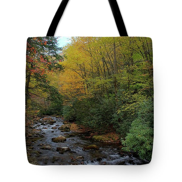 Cold Stream Tote Bag
