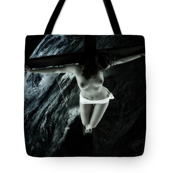 Cold Tellus Crucifix Tote Bag