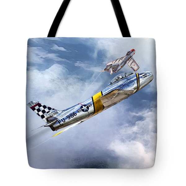 Cold War Clash Tote Bag by Peter Chilelli