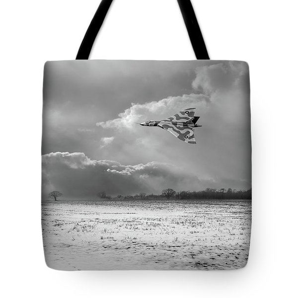 Tote Bag featuring the photograph Cold War Warrior Bw Version by Gary Eason