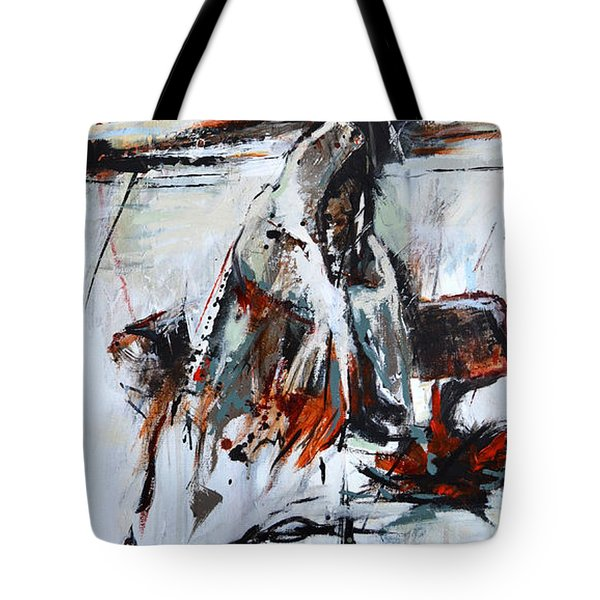 Tote Bag featuring the painting Cold Winter Day by Cher Devereaux