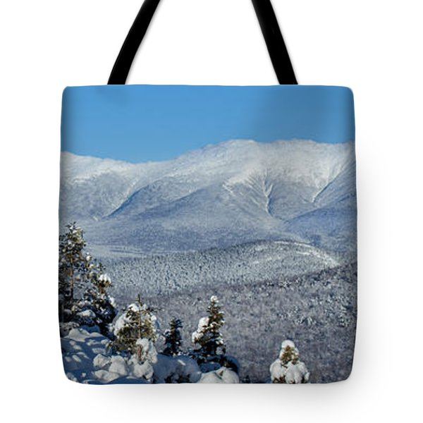 Cold Winter Day On Haystack Nubble Tote Bag