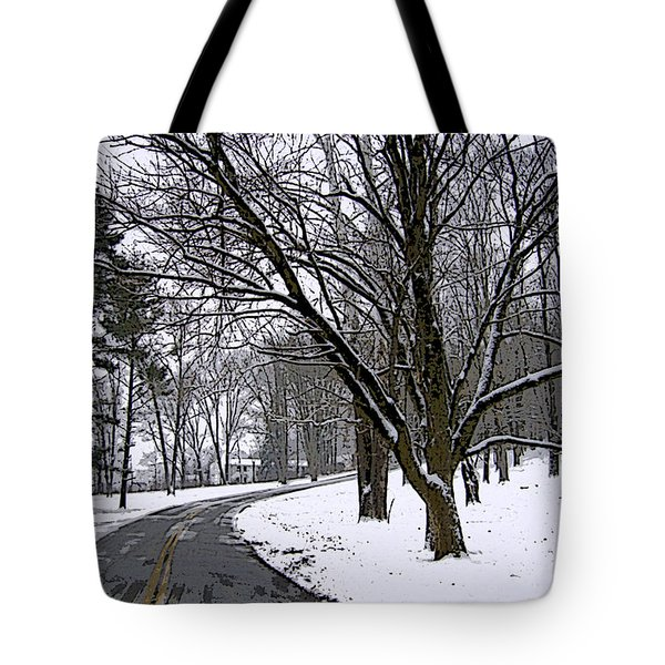 Tote Bag featuring the photograph Cold Winter Day by Skyler Tipton