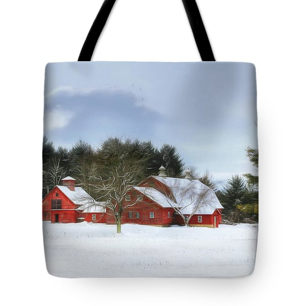Cold Winter Days In Vermont Tote Bag by Sharon Batdorf