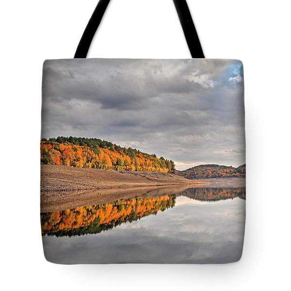 Colebrook Reservoir - In Drought Tote Bag by Tom Cameron