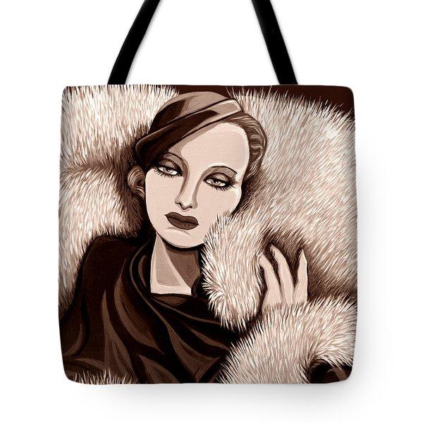 Colette In Sepia Tone Tote Bag by Tara Hutton
