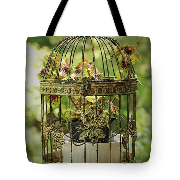Coleus In Vintage Birdcage Tote Bag