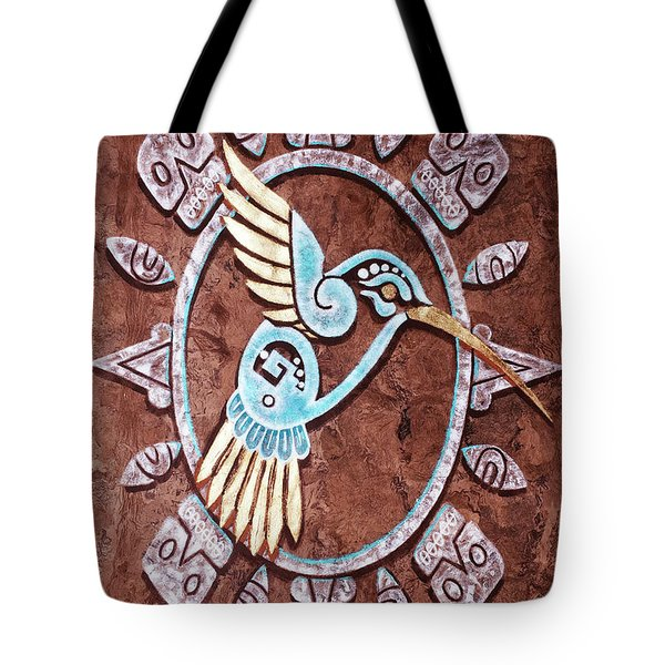 Tote Bag featuring the painting Colibri by J- J- Espinoza