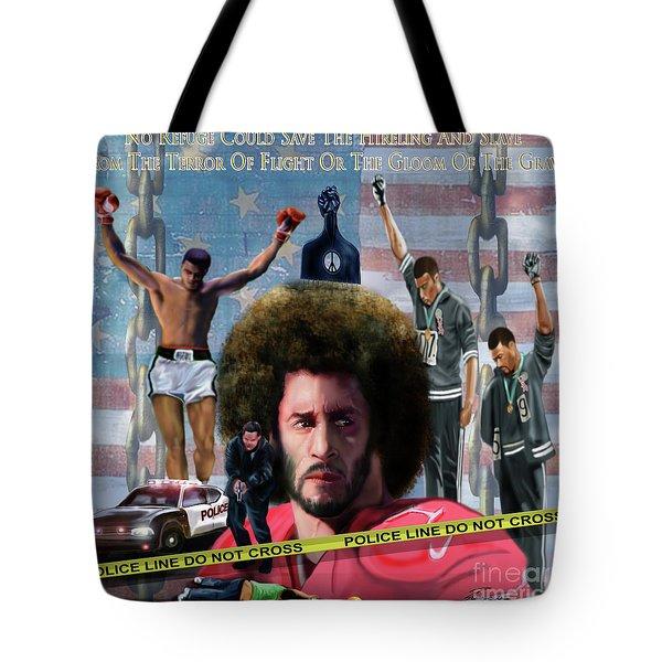 Colin Kaepernick Amongst The Brave Few 2a Tote Bag
