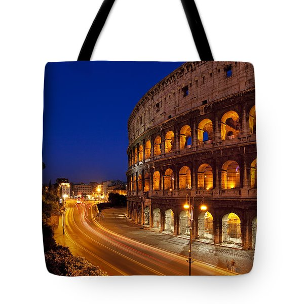 Coliseum At Twilight Tote Bag by Brian Jannsen