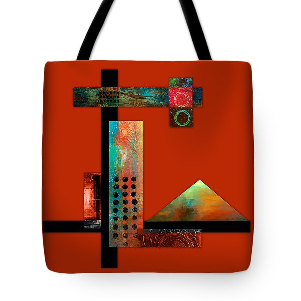Collage Abstract 1 Tote Bag by Patricia Lintner