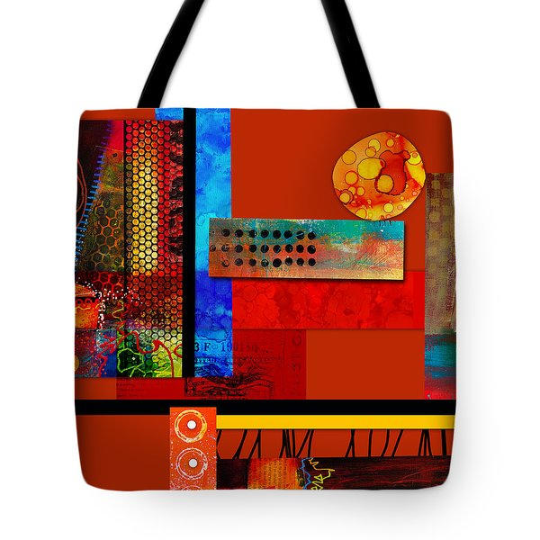 Collage Abstract 2 Tote Bag by Patricia Lintner