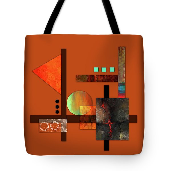 Collage Abstract 9 Tote Bag by Patricia Lintner