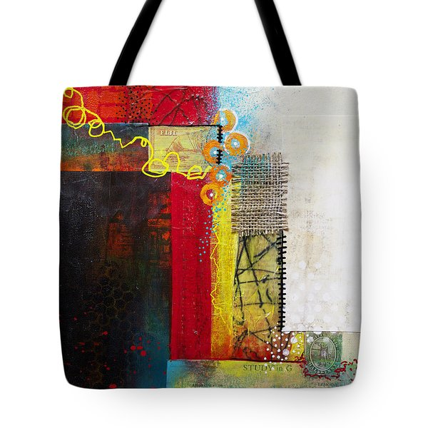 Tote Bag featuring the painting Collage Art 1 by Patricia Lintner