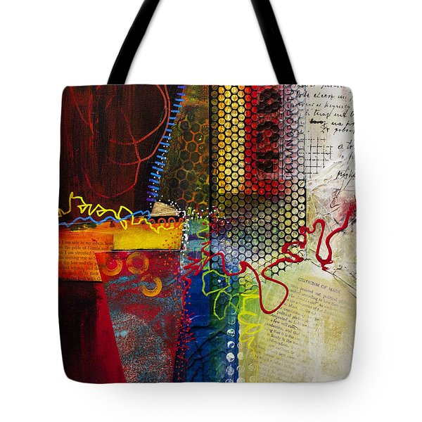 Tote Bag featuring the painting Collage Art 2 by Patricia Lintner