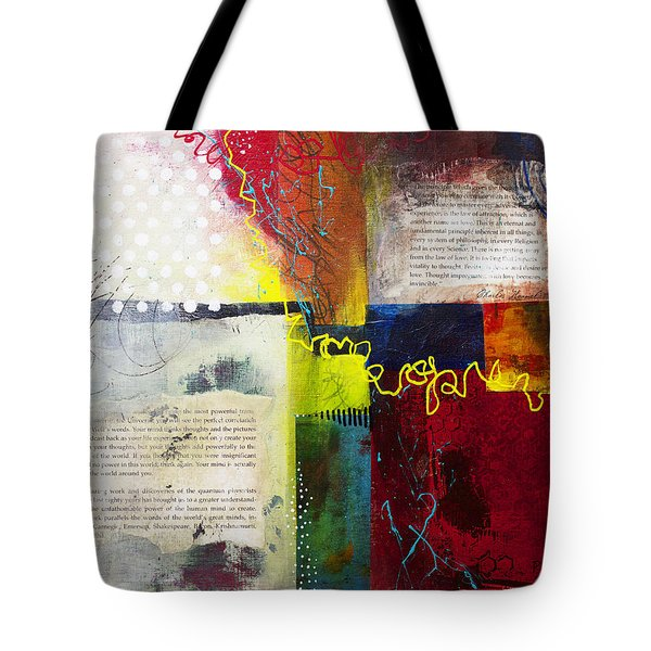 Tote Bag featuring the painting Collage Art 3 by Patricia Lintner