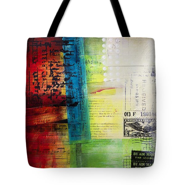 Tote Bag featuring the painting Collage Art 4 by Patricia Lintner