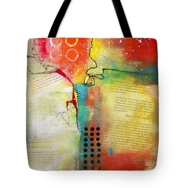 Tote Bag featuring the painting Collage Art 5 by Patricia Lintner