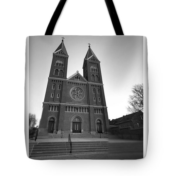 Collage Church Tote Bag by Dustin Soph