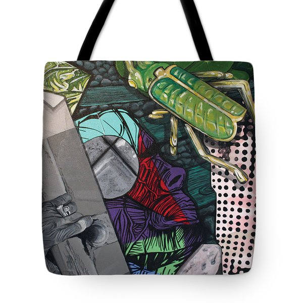 Tote Bag featuring the painting Collage by Jude Labuszewski
