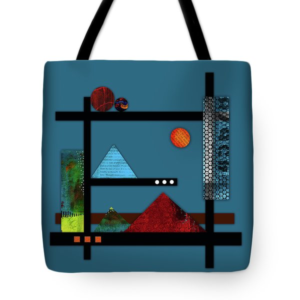 Collage Landscape 2 Tote Bag by Patricia Lintner