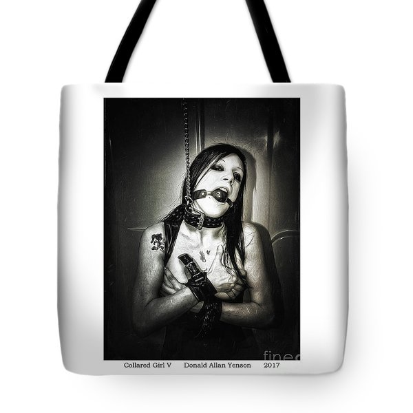 Collared Girl V Tote Bag by Donald Yenson